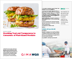 Providing Trust and Transparency to Consumers of Plant-Based Products