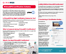 PrimusGFS Certification Scheme & How To Transfer Certification Bodies