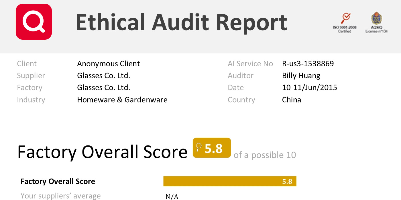 Ethical Audit Report Example – Audit Report