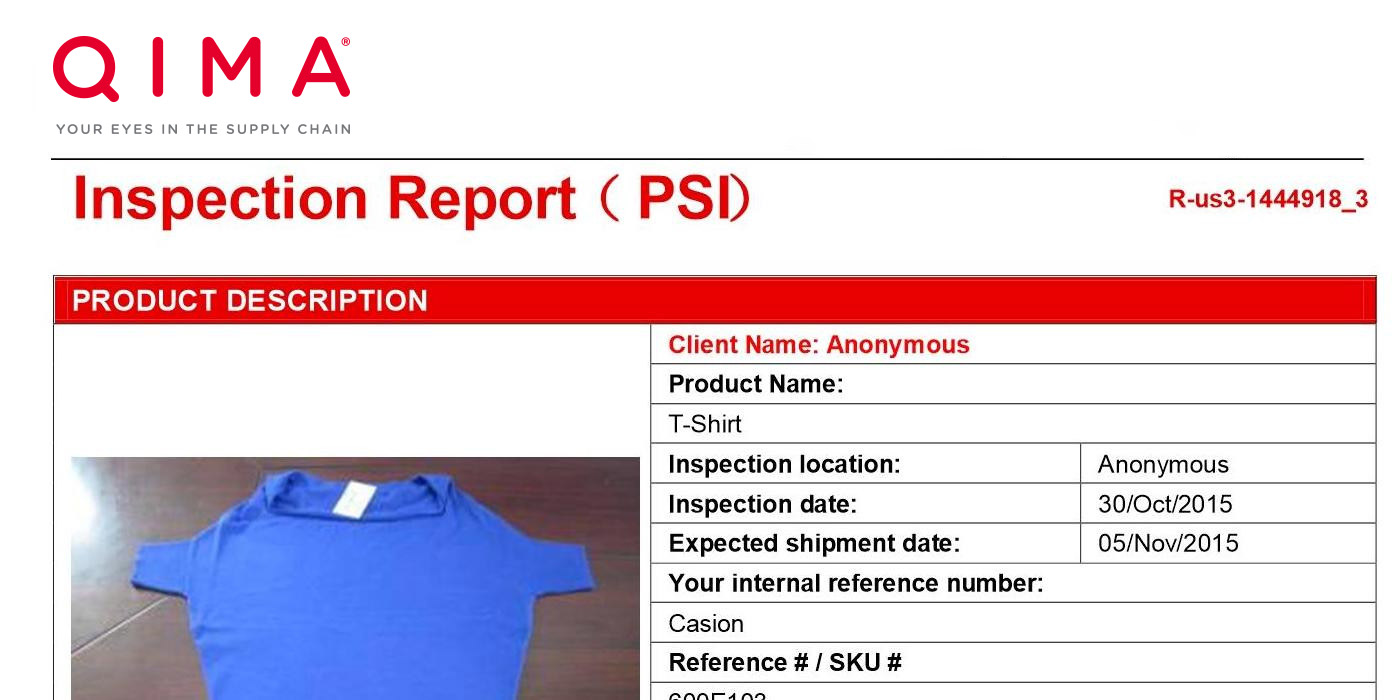 Inspection Amp Audit Sample Reports Asiainspection