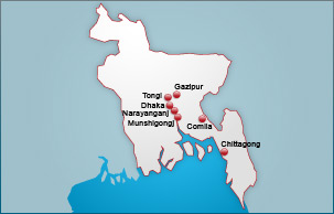 Bangladesh inspection map