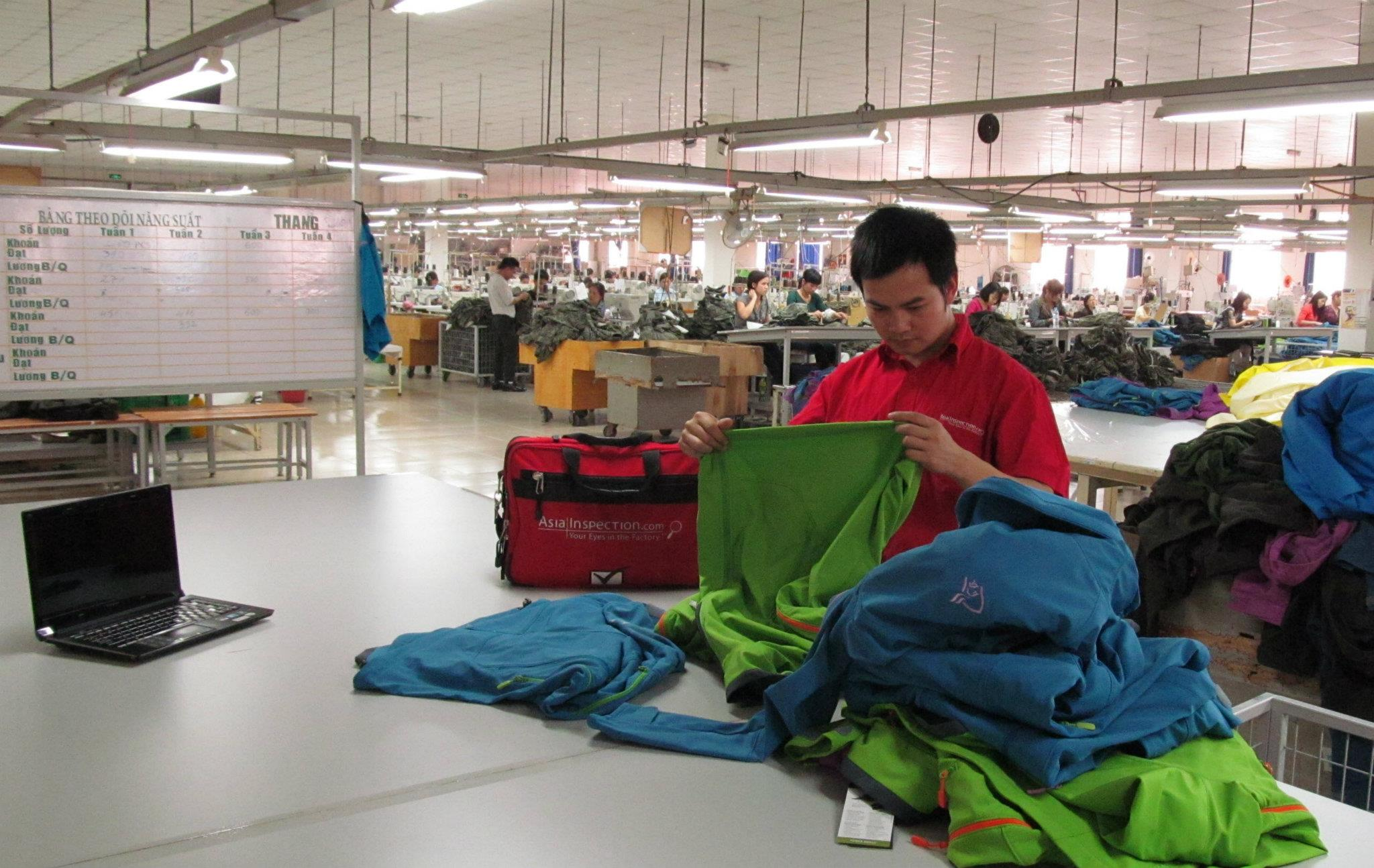 Inspection of Garments in Textile Factory in Vietnam | AsiaInspection