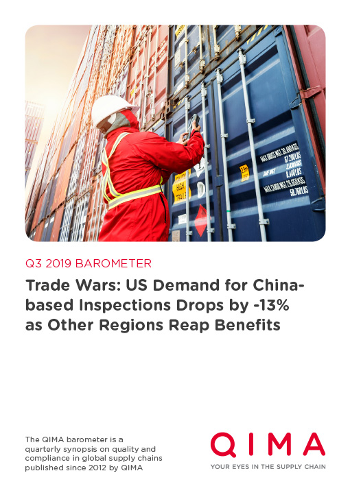 Q3 2019 Barometer: Trade War: US Demand for China-based Inspections Drops by -13% as Other Regions Reap Benefits