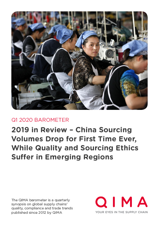 Q1 2020 Barometer: 2019 in Review – China Sourcing Volumes Drop for First Time Ever, While Quality and Sourcing Ethics Suffer in Emerging Regions