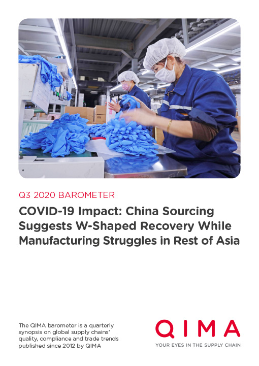 QIMA Q3 2020 Barometer: COVID-19 Impact: China Sourcing Suggests W-Shaped Recovery While Manufacturing Struggles in Rest of Asia