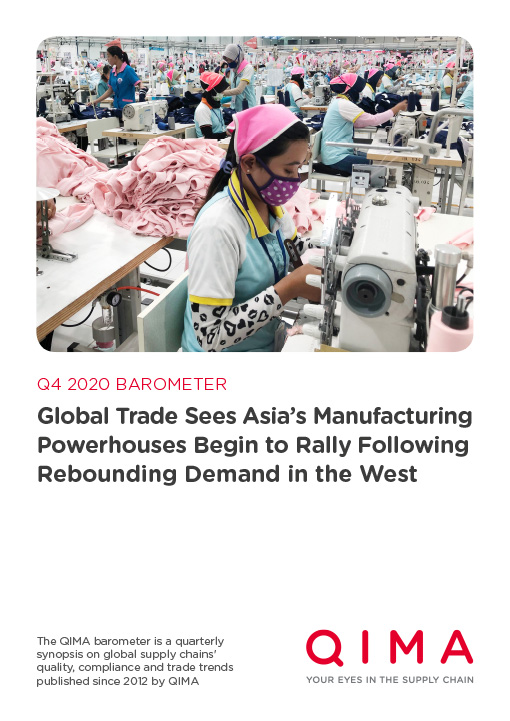 QIMA Q4 2020 Barometer: Global Trade Sees Asia's Manufacturing Rally Following Rebounding Demand in the West