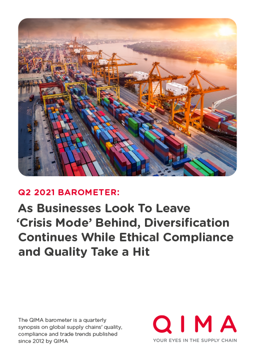 QIMA Q2 2021 Barometer: As Businesses Look To Leave 'Crisis Mode' Behind, Diversification Continues While Ethical Compliance and Quality Take a Hit
