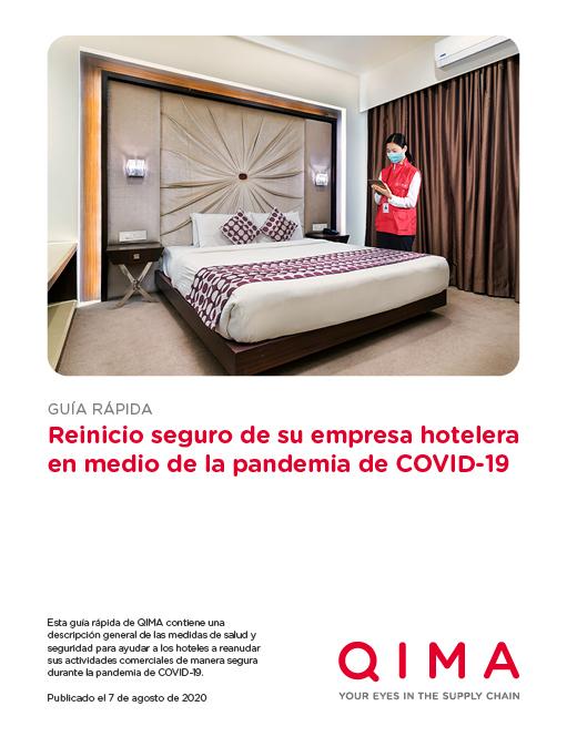 Guía rápida: Reinicio seguro de su empresa hotelera en medio de la pandemia de COVID-19