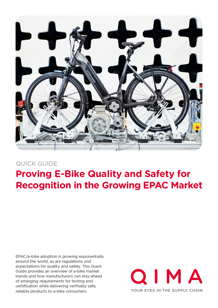 Proving E-Bike Quality and Safety for Recognition in the Growing EPAC Market