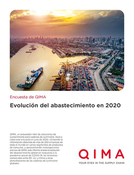 Evolución del abastecimiento global en 2020