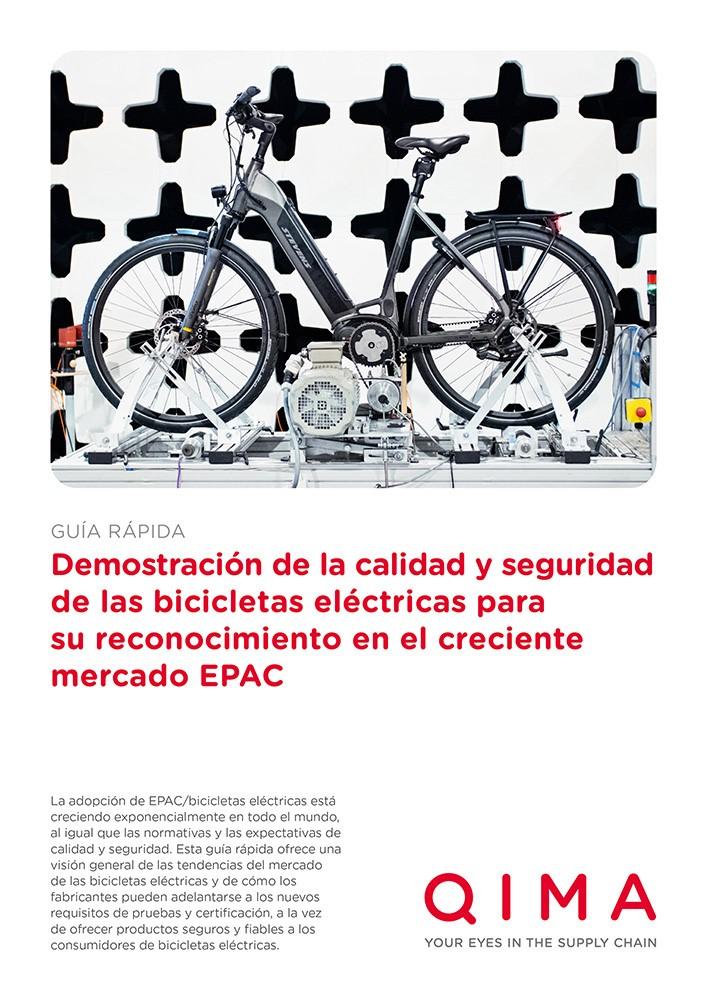Demostración de la calidad y seguridad de las bicicletas eléctricas para su reconocimiento en el creciente mercado EPAC