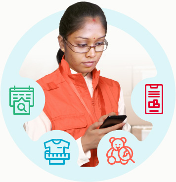 Inspector performing an inspection using digital checklists, easy measurements, defect spotting and instant reporting.