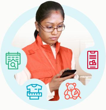 Inspector realizando una inspección usando listas de verificación digitales, mediciones sencillas, visualización de defectos y elaboración e informes instantáneos.